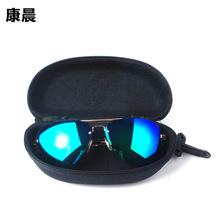 廠家批發新款太陽鏡便攜帶拉鏈盒防壓花生鏡盒太陽鏡盒EVA眼鏡盒
