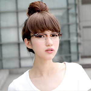 The new version of flat mirror middin retro glasses frame star with glasses wholesale cheap 9091
