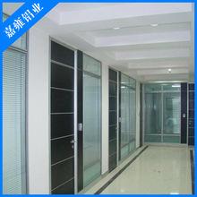 厂家直销 钢化玻璃隔断墙办公室隔墙 铝合金隔断带百叶高隔断隔间