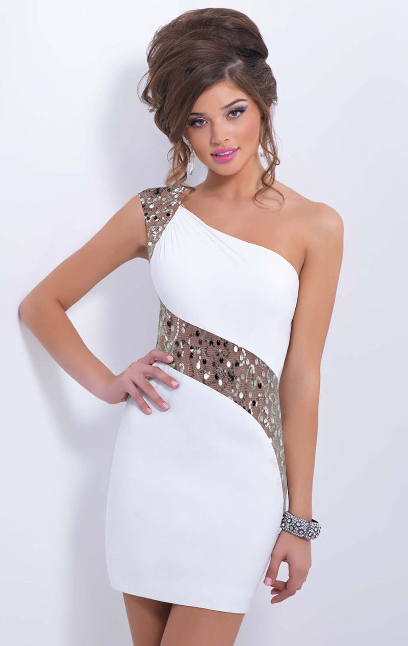 75bef5d6ee Hot Sexy Sequined Mesh Patchwork Bodycon One Shoulder Mini Party ...