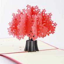 創意立體賀卡 浪漫立體櫻花 3D紙雕 武漢大學 櫻花節創意明信片