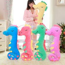 熱銷時尚可愛七彩海馬抱枕毛絨玩具公仔個性創意玩偶批發