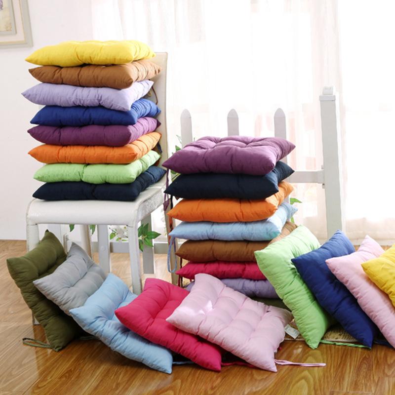 秋冬加厚纯色素色磨毛坐垫办公室餐椅垫不褪色不起球厂家批发直销