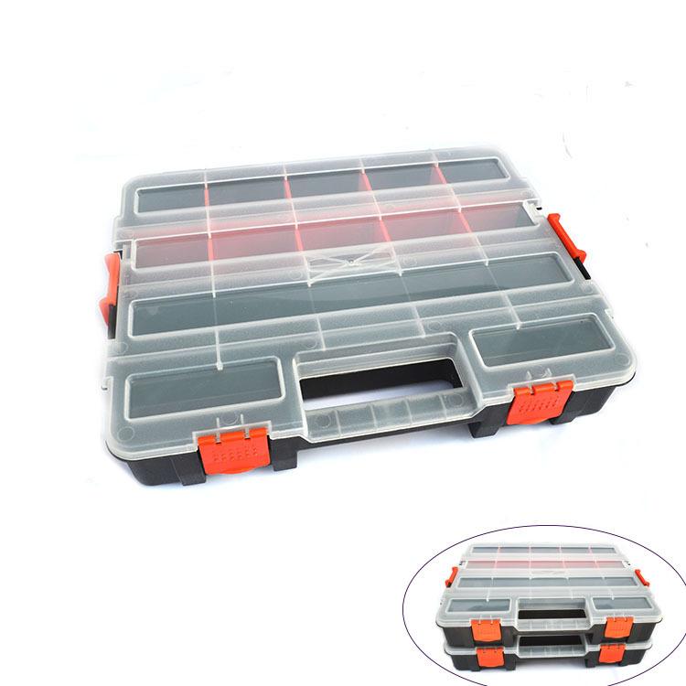手提元件盒原件螺丝收纳盒塑料盒零件盒分隔式电子元件盒