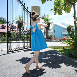 The explosion of Korean girls dress lace Halter wholesale casual summer beach skirts on behalf of a A008