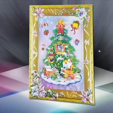 专业生产环保pvc塑料壁画 工艺礼品圣诞树墙贴吸塑广告画定制logo