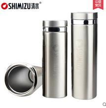 专柜正品 上海清水SHIMIZU 方型不锈钢真空保温杯 SM-6122