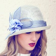 夏天帽子女士防晒优雅遮阳帽子韩版卷边麻纱帽太阳帽子女批发三层