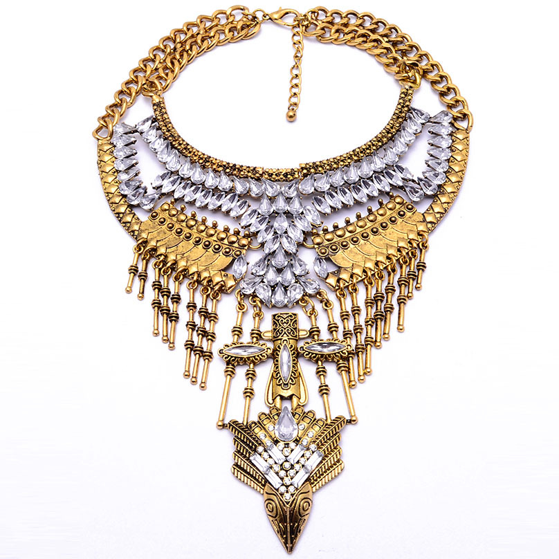 Womens teardrop-shaped alloy Necklaces JQ190416117452