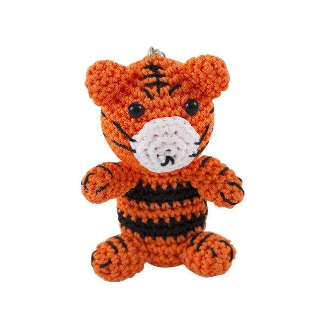 彩织商贸原创设计 12生肖毛线公仔娃娃 生肖虎 纯手工编织