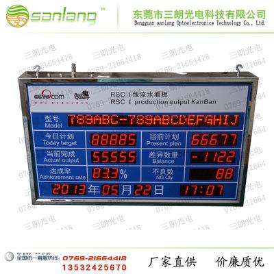 东莞生产管理看板 工厂电子看板 LED电子看板 专业定制开发