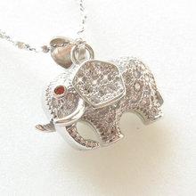 925銀吊墜 項鏈手鏈佛珠串珠掛件 diy飾品項墜 微鑲立體大象款