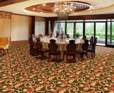 金碧伦满铺地毯夜场商务会所KTV宴会厅威尔顿高档机织地毯直销