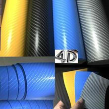 汽車貼紙4D碳纖維貼紙車身貼膜碳纖紙亮光改色膜手機筆記本保護膜