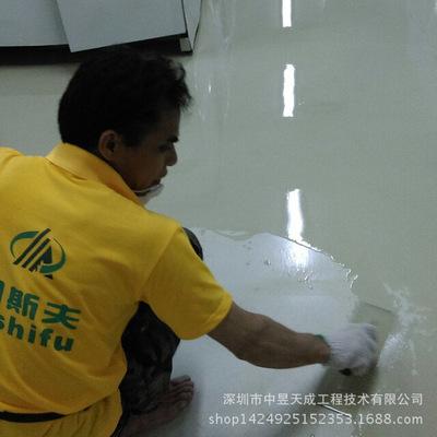 深圳米黄色防腐地坪厂家 线路板厂电镀车间防腐地坪多少钱一平方