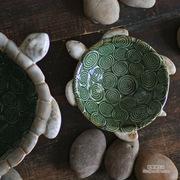 批发创意彩色釉陶瓷摆件乌龟盆 钥匙糖果盘/烟灰缸工艺品