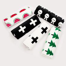 北欧宝宝睡毯批发法兰绒婴幼儿ins抱毯西瓜十字卡通毯子儿童盖毯