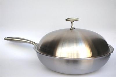 不锈钢炒锅不粘锅无涂层无油烟炒锅电磁炉通用家用炒锅电磁炉