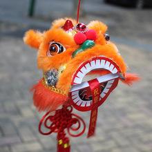 民间传统舞狮工艺品 中国风吉祥新吊狮头挂件 装饰送礼中秋礼物