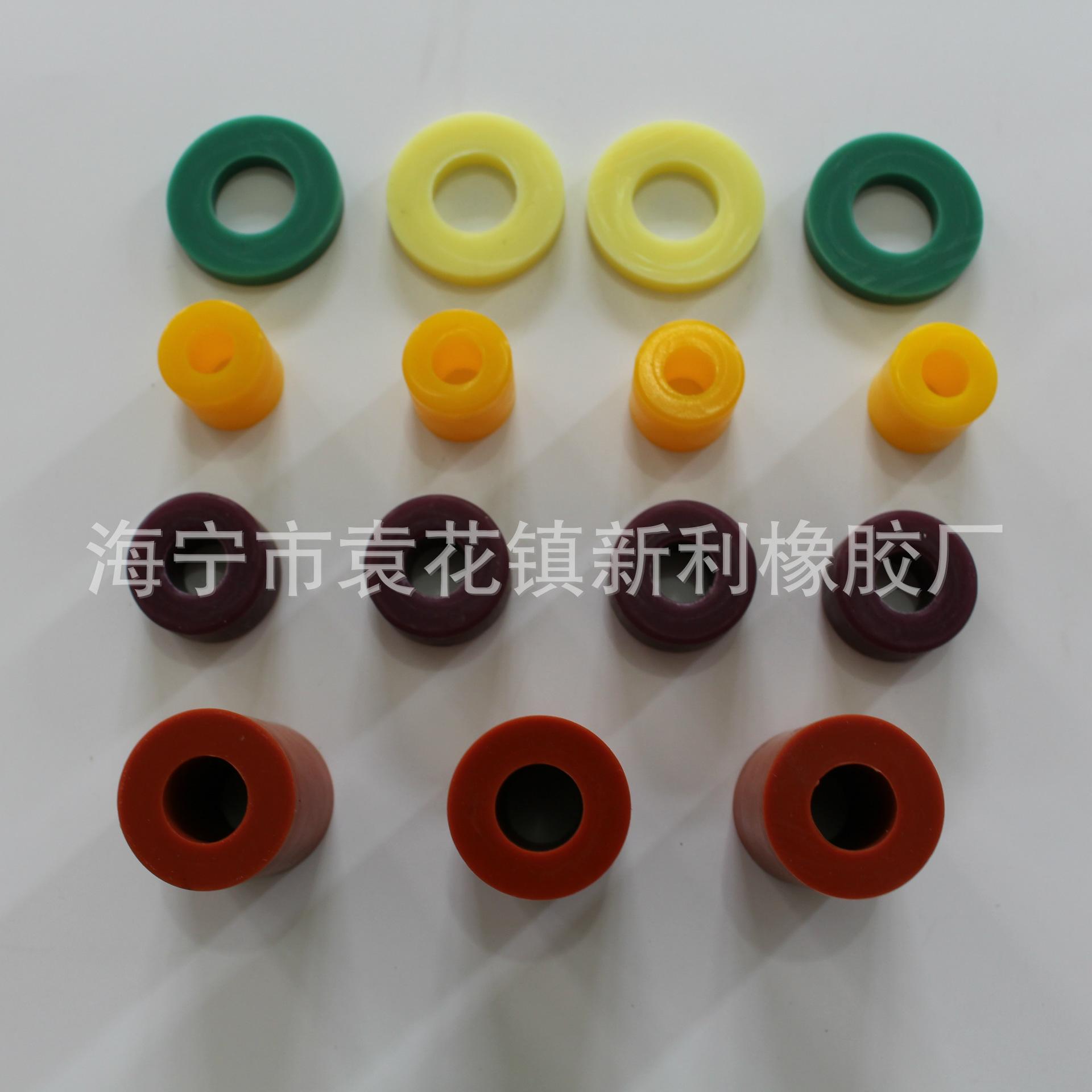 海宁厂家直供 减震防震橡胶柱 圆柱形黑色橡胶套筒 20mm硅胶柱