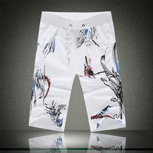 品牌男装批发夏季个性中国风印花男士纯棉休闲短裤五分裤大码裤子