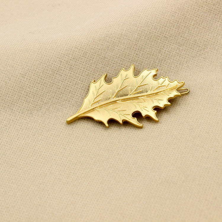 Jewelry golden leaf maple leaf hair clip edge clip NHDP194719