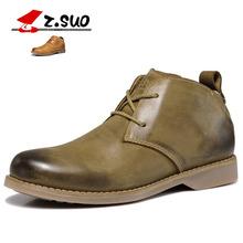 走索流行男靴英伦马丁靴男军靴春秋男士系带短靴潮男鞋ZS699G