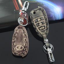 适用于奔腾X80 B50汽车钥匙钥匙包 一汽奔腾汽车真皮钥匙套