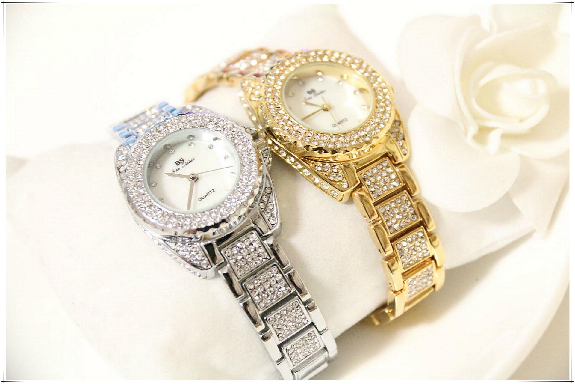 BS марка Кристалл Алмаза Прокатки Браслет женские Часы Люксовый Бренд Модные Женские Часы Женщины Кварцевые часы Часы FA1141