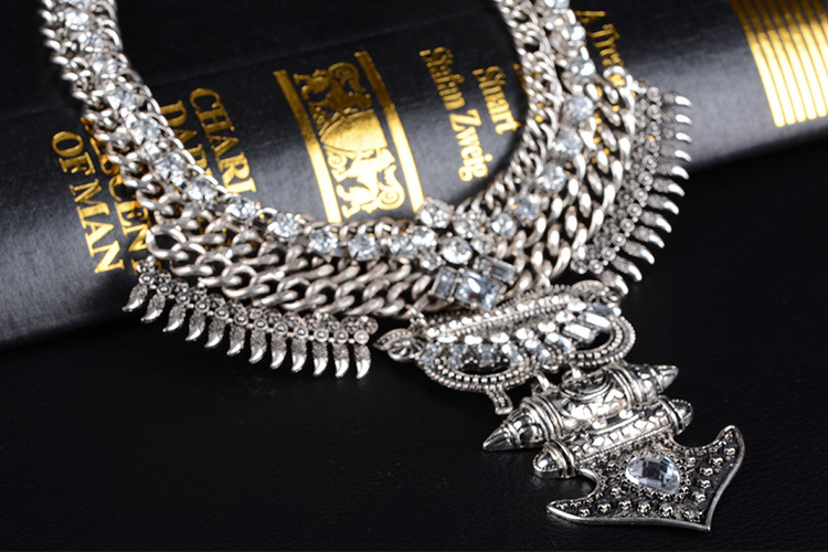 other alloy Diamond necklace (Gold)NHYT0371-Gold