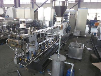 双螺杆造粒机 高扭矩变速箱 环保无噪音 SHJ65B翰易机械