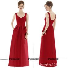 敬酒新娘时尚2020新款红色礼服长款A摆一字肩结婚婚纱礼服春夏款