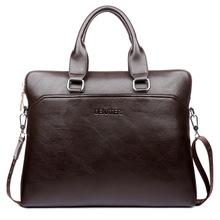 新款男士商务手提包真皮横款时尚公文包斜挎单肩电脑包潮厂家直销
