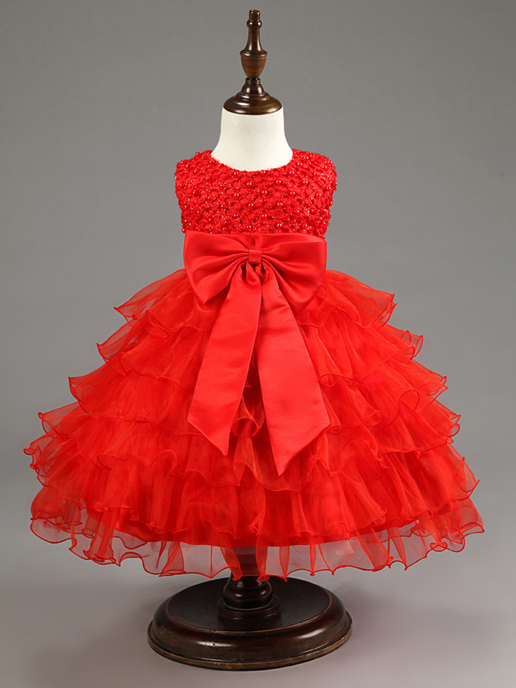 Cute Girl Infant Party Dress For 1 Year Baby Girl Birthday Frock ...