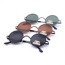 2017厂家直销男士太阳镜  圆形复古边框太阳镜 偏光男士太子镜