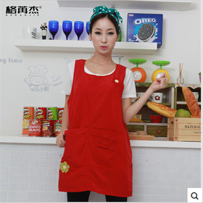 Chef overalls Micro waterproof vest in lovely Kitchen Apron flower shop work clothes restaurant barber shop kindergarten
