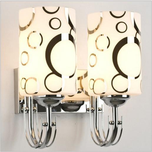 壁灯客厅墙壁灯卧室LED壁灯床头灯双头镜前灯泡壁灯具包邮灯饰