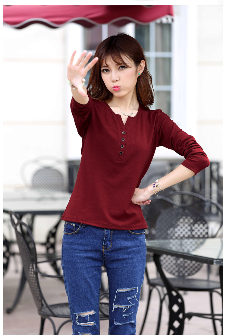 2315565961 1632579699 - New Autumn Long Sleeve t-shirt Solid Womens Tops Fashion