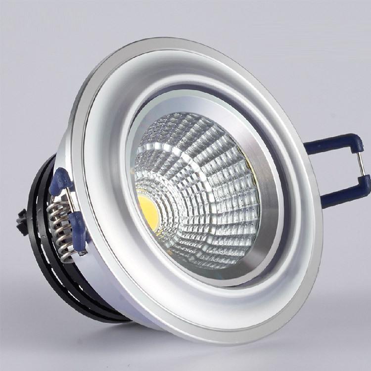 新款 极浦LED射灯筒灯COB天花灯土豪金太空银烤白漆中性光吊顶