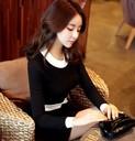 Đầm nữ dài tay, thiết kế thanh lịch, phong cách Hàn Quốc thời thượng