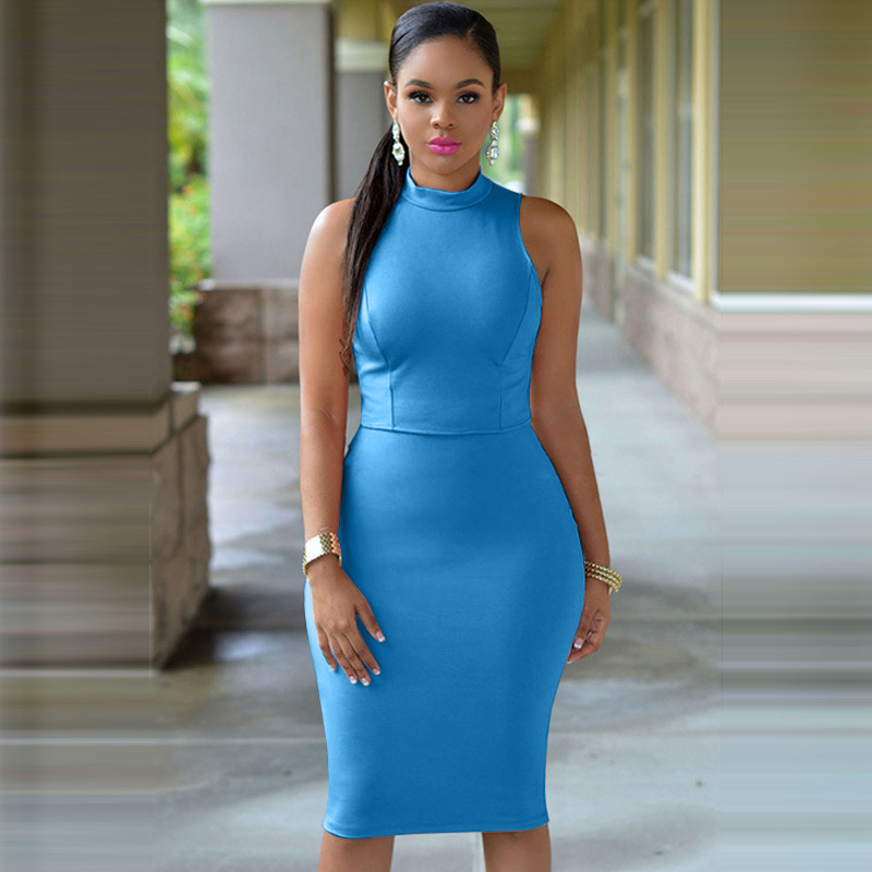 ea0dc6a4f13b ... Evening Party Cocktail Sexy Office Pencil Dress Vestidos. 1 2 2015-Women-3-colors-Cutout-Bac  3 undefined undefined undefined