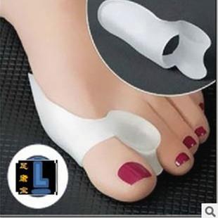 Factory direct toe hallux valgus corrector toe protective sleeve double hole silicone toe separator