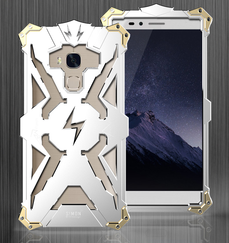 SIMON THOR Aviation Aluminum Alloy Shockproof Armor Metal Case Cover for Huawei Honor 5X