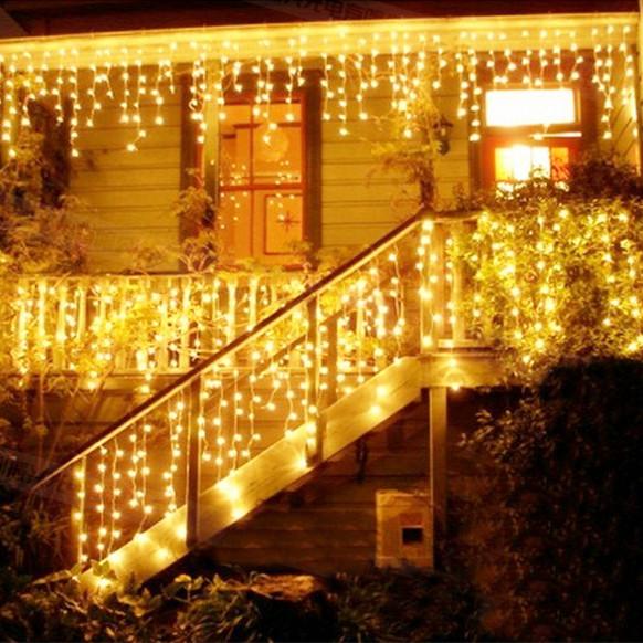 冰条灯彩灯闪灯串灯厂家直销LED防水装饰灯节日瀑布流水灯满天星
