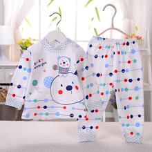 2015新款童裝 嬰童全棉兩件套73-90 寶寶肩扣內衣套裝 湯博士1833