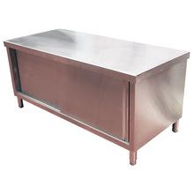 热销不锈钢拉门工作台 厨房单双通打荷台 商用不锈钢拉门工作台