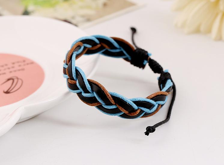 Small jewelry wholesale woven leather bracelet NHPK195295