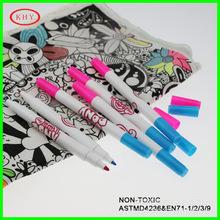 凯虹宇定制生产双头织物笔 T恤帆布包diy填色笔 不可洗布料笔
