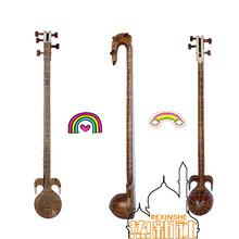 新疆樂器 維吾爾族  手工制作本土民族樂器 蟒蛇皮熱瓦普