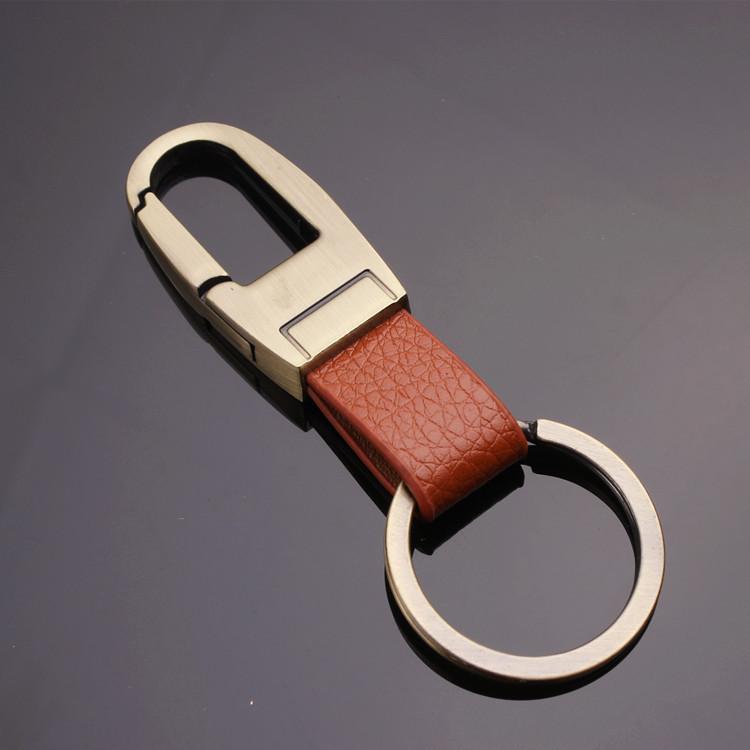 H2011男士pu皮金属钥匙扣 6款混搭磨砂新款男士腰挂钥匙扣